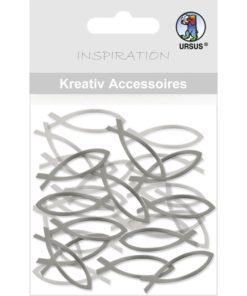 Ursus Kreativ-Accessoires, Mini-Pack, Fische, silber