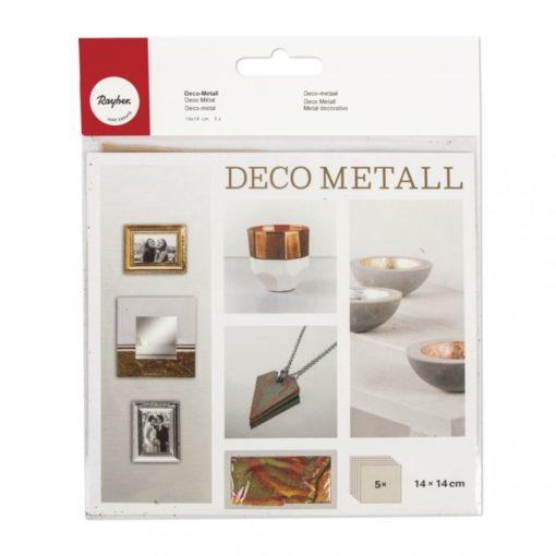 Deco-Metall 14 x 14 cm rot, 5 Blatt