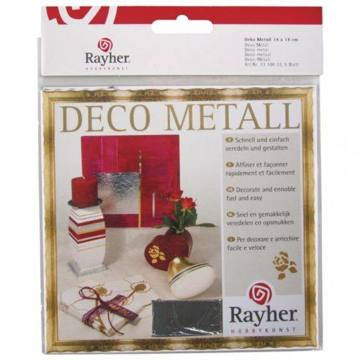 Deco-Metall 14 x 14 cm silber, 5 Blatt