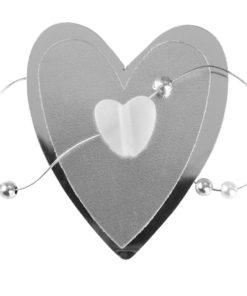 Deko Herz mit Perlen
