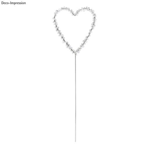 Draht Herz zum Stecken mit Perlen