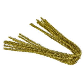 Efco Chenilledraht gold 50 cm, 10 Stück