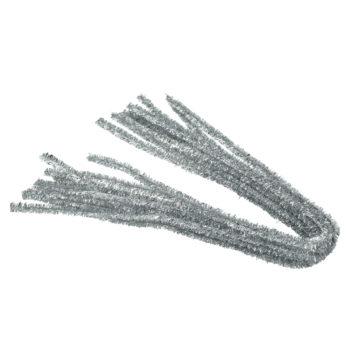 Efco Chenilledraht silber, 8 mm, 10 Stück