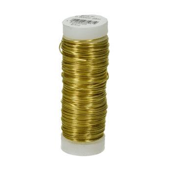 Efco Kupferdraht, messing-gold, 0,50 mm Ø, Rolle 25m