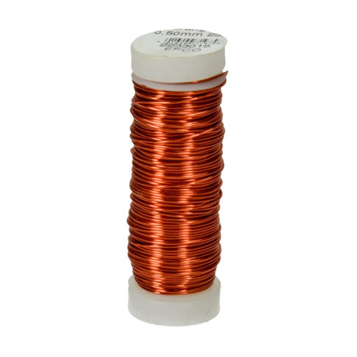 Efco Kupferdraht, orange-metallic, 0,50mm Ø, Rolle 25m