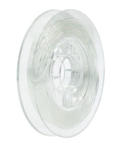 Transparenter Gummifaden zur Schmuckgestaltung, 1mm Ø, Rolle 5m