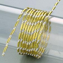 Aludraht, Diamant, 2mm in gelb