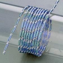 Aludraht, Diamant, 2mm in eisblau