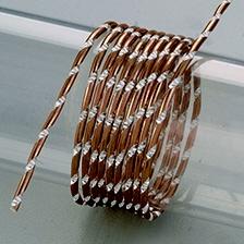 Aludraht, Diamant, 2mm in dunkelbraun