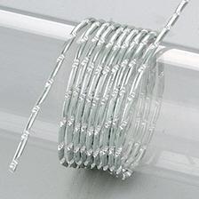 Aludraht, Diamant, 2mm in silber