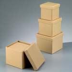 Papp-Schachteln, 3-teilig, in Quader-Form