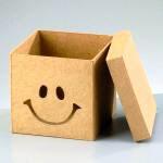 Papp-Box 11x11x10,5 cm, in quadratischer Form