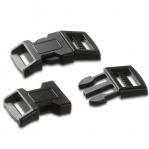 Klickschnalle für Paracord in schwarz