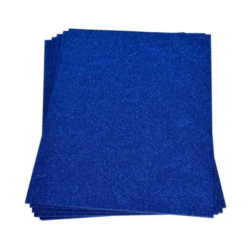 Efco Moosgummiplatte mit Glitter in blau