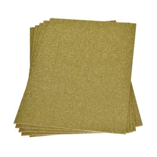 Efco Moosgummiplatte mit Glitter in gold