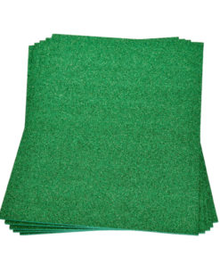 Efco Moosgummiplatte mit Glitter in grün