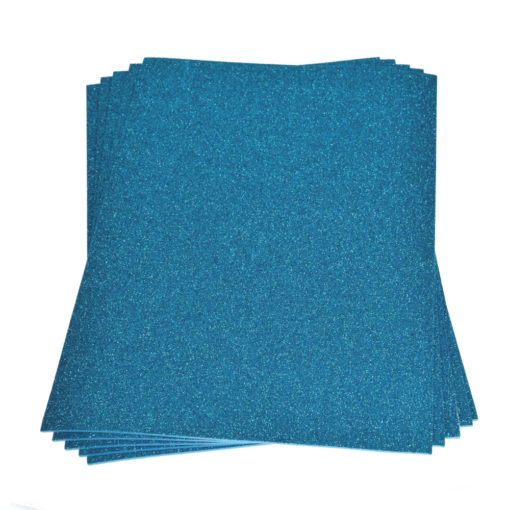 Efco Moosgummiplatte mit Glitter in hellblau