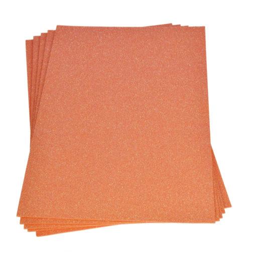 Efco Moosgummiplatte mit Glitter in orange
