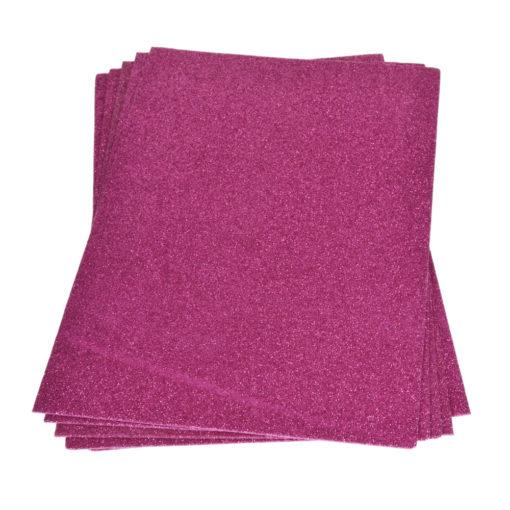 Efco Moosgummiplatte mit Glitter in pink