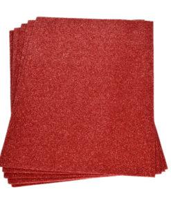Efco Moosgummiplatte mit Glitter in rot