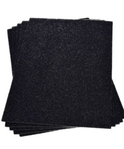 Efco Moosgummiplatte mit Glitter in schwarz