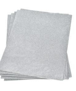 Efco Moosgummiplatte mit Glitter in silber