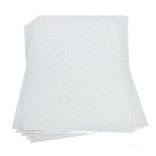 Efco Moosgummiplatte mit Glitter in weiß