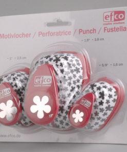 Efco Motivlocher 3er Set Blume zum Stanzen von Papier