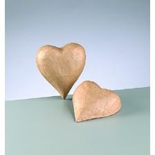 Pappmaché-Herz in 3D-Form, zum Basteln