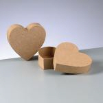 Flachbox mini, aus Pappe, in Herzform