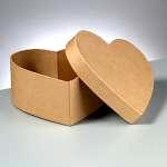 Efco Papp-Box, 12x5,5 cm, in Herzform
