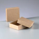 Papp-Flachbox mini, 9x9x3 cm, in quadratischer Form