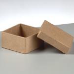 Papp-Box mini, 5x5x2,5 cm, in quadratischer Form