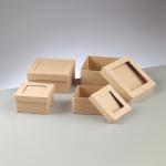 Papp-Schachteln, 9,5-11 cm, in quadratischer Form