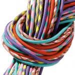 Paracord, sortiert in bunten Farben
