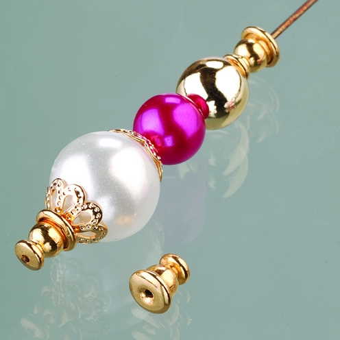 Perlenstopper, vergoldet zur Schmuckherstellung