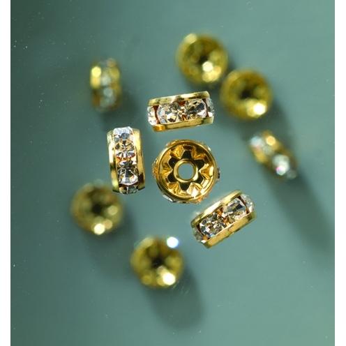 Strassrondelle in gold