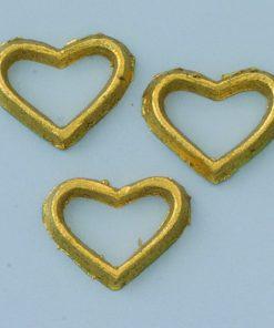 Wachsmotiv Herzen in gold, zum Dekorieren
