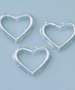 Wachsmotiv Herzen in silber, zum Dekorieren