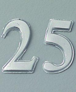 Wachsmotiv Zahl 25 in silber, zum Dekorieren