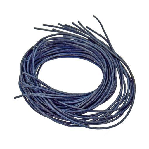 Ziegenlederband in dunkelblau