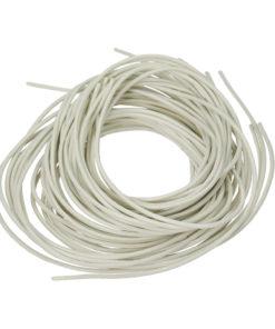 Ziegenlederband in weiß