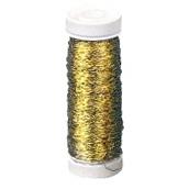 Gold-Effektdraht Rolle 60m