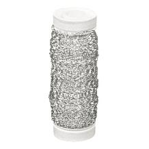 Silber-Effektdraht Rolle 60m