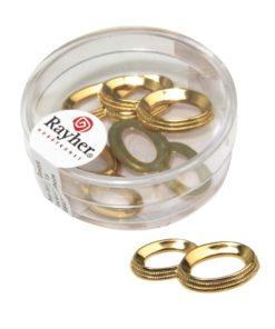 Acryl Eheringe in gold