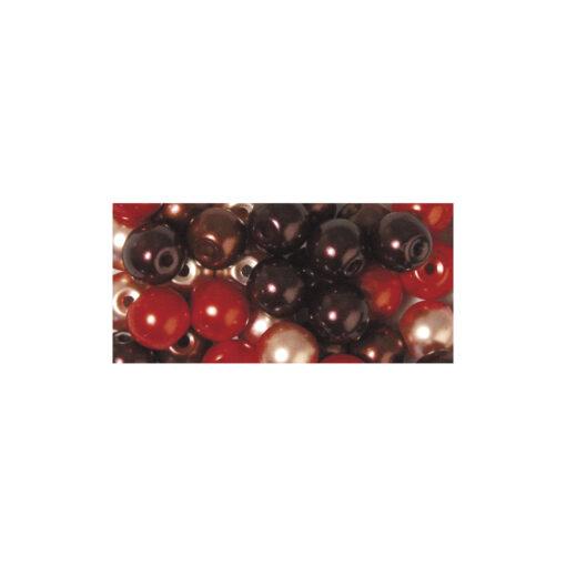 Renaissance Glaswachsperlen, rot Mix
