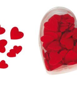 Wattierte Herzen in rot