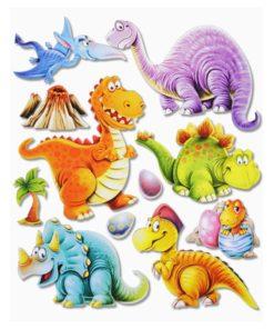 3D Sticker Dinos XXL