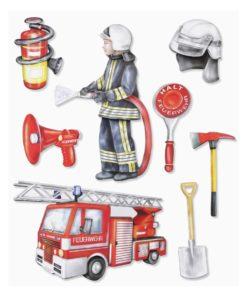 3D Sticker Feuerwehr XXL