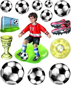 3D Sticker Fußball XXL
